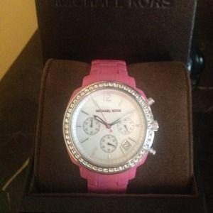 Authentic Michael Kors Hot Pink Watch Mk5219