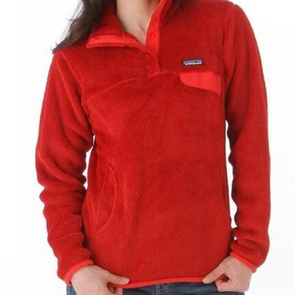 97% off Patagonia Outerwear - Traded Red Patagonia Retool Pullover ...