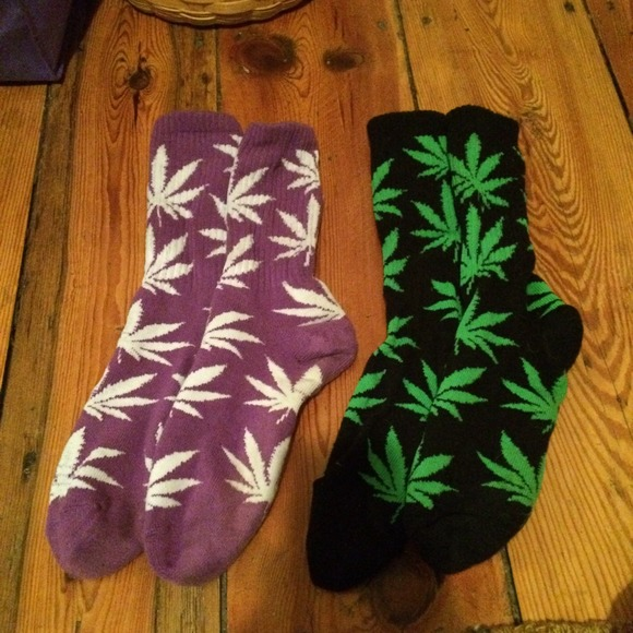 uznane marki kupić szalona cena 2 pairs of Huf socks