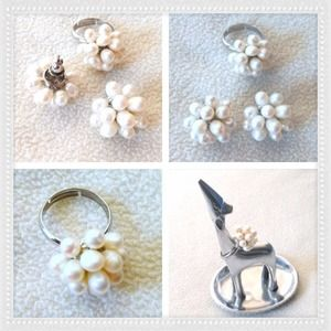 Jewelry - Real Fresh Water Pearl Cluster Set
