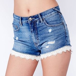 Free People Jeans - REDUCED!Free People Lacey Denim Cutoff Shorts NWOT