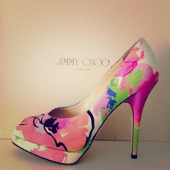 3deda1122fc Jimmy Choo Floral Pumps🌺