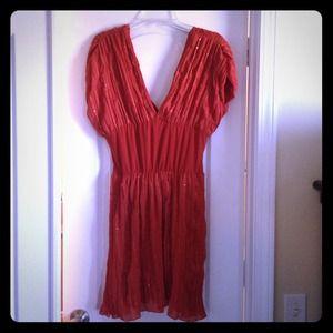 gabriella rocha Dresses & Skirts - NWOT burnt orange tunic with sequins. Cute & fun!
