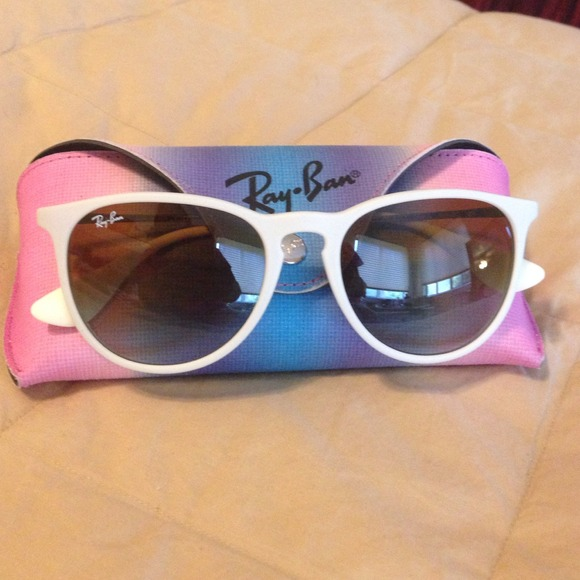 1dbcd8dc79 Ray-Ban RB4171 White Erika Sunglasses. M 53d90721fab8363b00023744. Other  Accessories ...