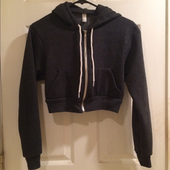 81e874e7e3 American Apparel Jackets & Blazers - American Apparel Cropped Flex Fleece  Zip Hoodie