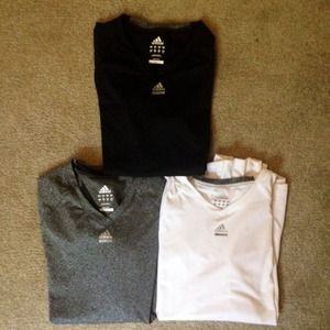 Long Sleeve Adidas Workout Tops