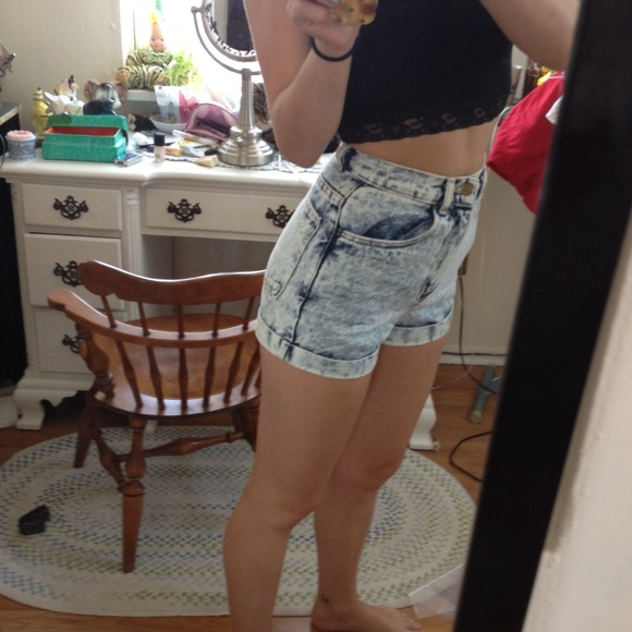 54% off American Apparel Denim - High waist! AA acid wash denim ...