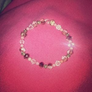 Cute pink and light gold bracelet 