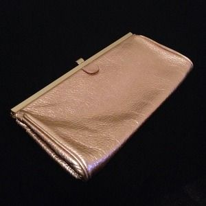 J. Crew Clutches & Wallets - JCrew • rosegold metallic clutch
