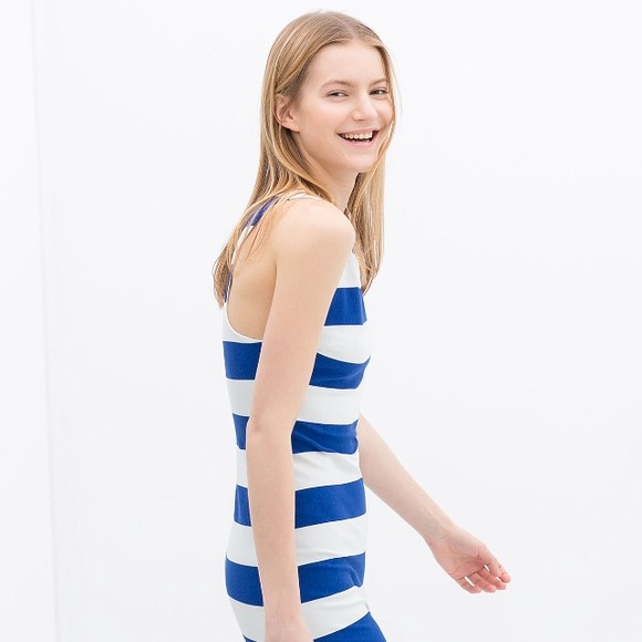 Zara Striped Tulip Dress Zara Striped Tube Dress