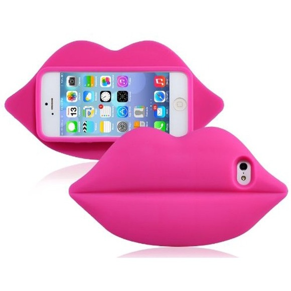 outlet store 22e9c 10903 VS PINK 💗💋IPhone 5/5S/5C Hot Pink Lip Case NWT