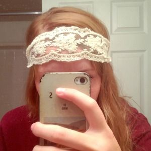 White lace UO headband