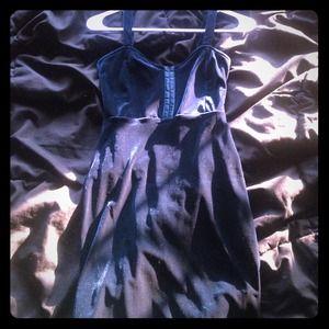 Velvet tight fitting dress