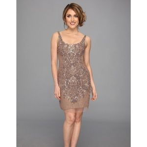 Adrianna papell beaded sheath cocktail dress