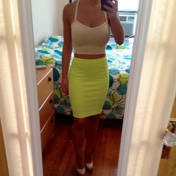 Lime Green Pencil Skirt | Jill Dress