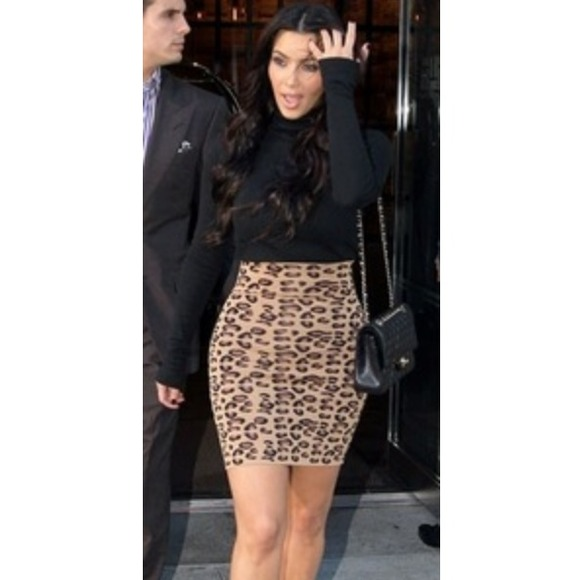 Cheetah Bodycon Skirt