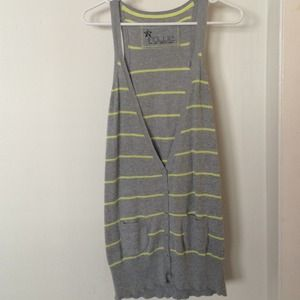 Nollie grey and yellow cardigan dress