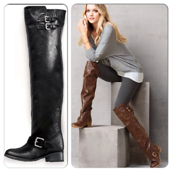 Black Over The Knee Riding Boots - Cr Boot