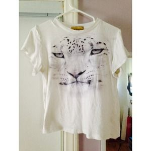Wildfox white label tiger top