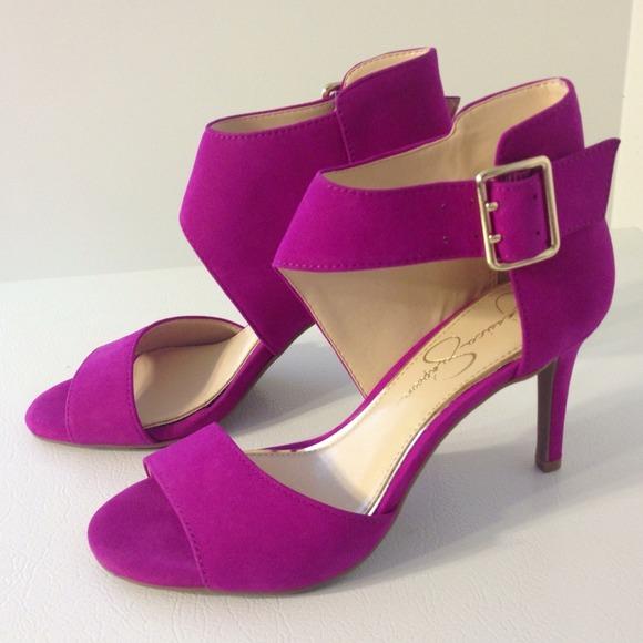 ⬇Jessica Simpson Suede Leather Heels