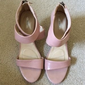 rose colored Zara heels