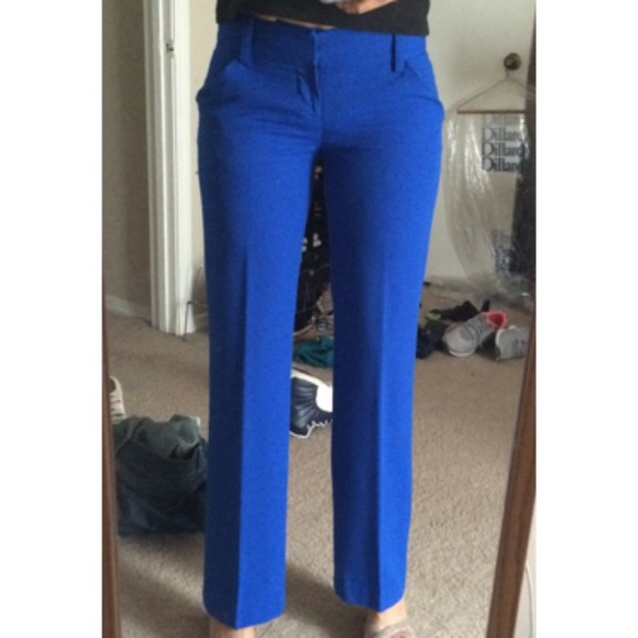 75% off Gianni Bini Pants - Cobalt Blue Dress Pants from Adriana's ...