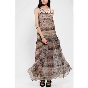 Staring At Stars Chiffon Drop-Waist Maxi Dress