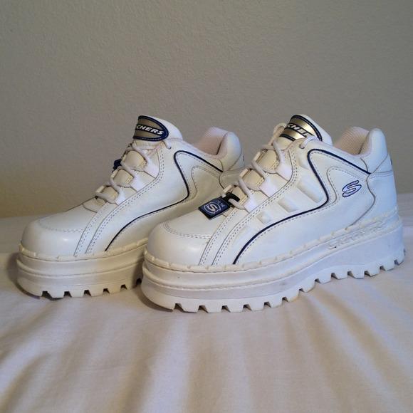 skechers platform tennis shoes