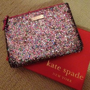 Kate Spade Little Gia Glitter Pouch