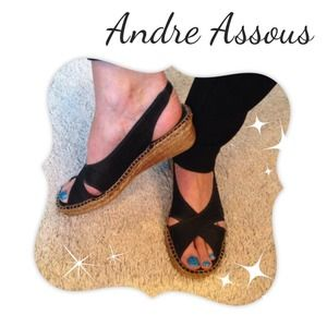 Andre Assous Dion Slingback Wedge - Silk upper