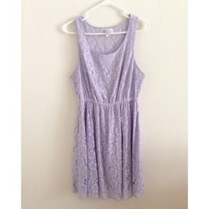 H&M lavender lilac lace dress size 10
