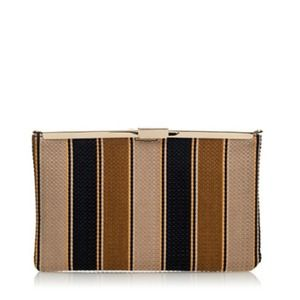 J. Crew Stripe Clutch
