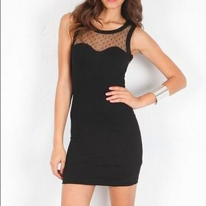 Black Keepsake devotion body dress. NWT
