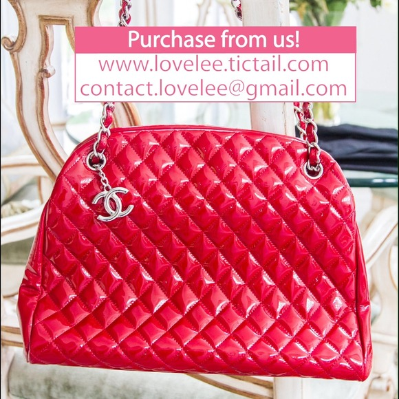 CHANEL Bags | Red Patent Leather Quilt Purse