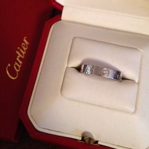 MIB! authentic Cartier Mini Love Ring 18k WG sz49