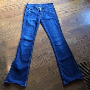 Dark wash Hudson bootcut denim