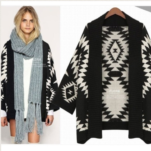 19% off Sweaters - ❗Cream or Black❗ Aztec Oversized Cardigan ...