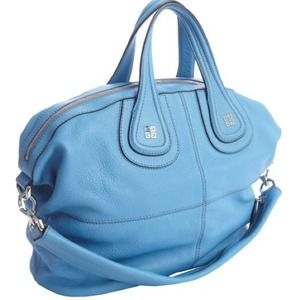 Givenchy Sky Blue Med Leather Nightingale Tote NWT