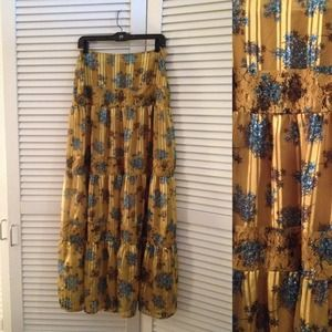 Jessica Simpson Dresses & Skirts - Jessica Simpson Yellow Floral Flowing Maxi Skirt