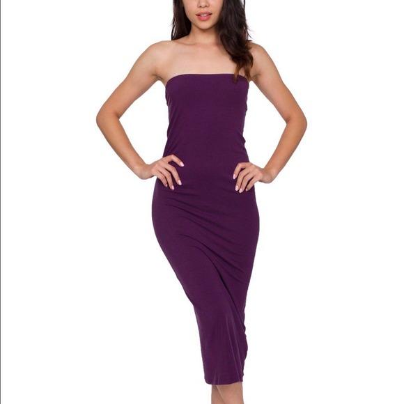 79b5f9d74d7 American Apparel Dresses   Skirts - Cotton Midi Tube Dress