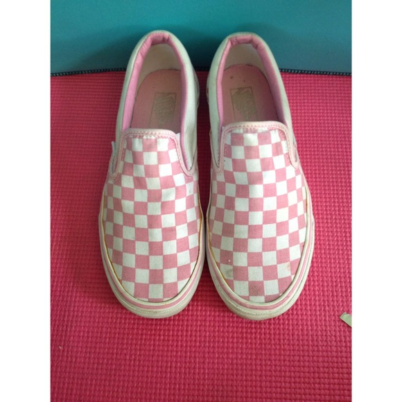 1deb313bfcec Buy pink black checkered vans