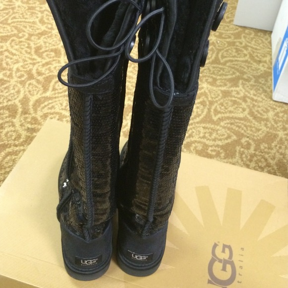 33 ugg boots ugg sequin knee high boots from