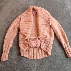Sweaters - *SOLD*Chunky knit sweater cardigan with Pom Pom