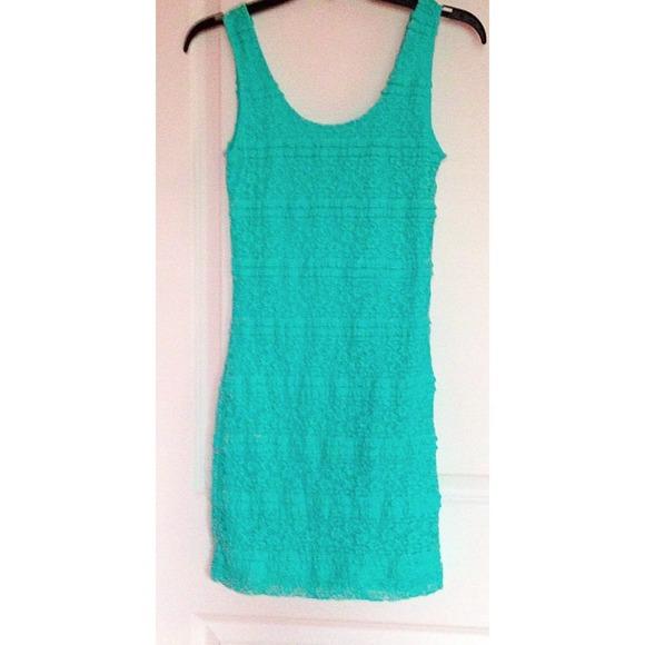 63% off Forever 21 Dresses & Skirts - Teal Lace Dress Forver 21 ...