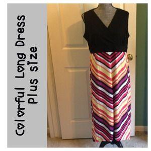 Faded Glory Dresses & Skirts - Hi Lo Dress Multi-color sz 1x 16W