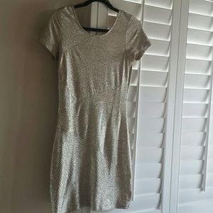 Free People metallic fitted dress