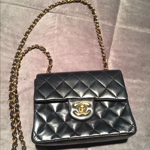 AUTHENTIC Chanel lambskin classic mini.