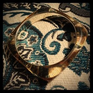 Banana Republic gold mirrored cuff bracelet