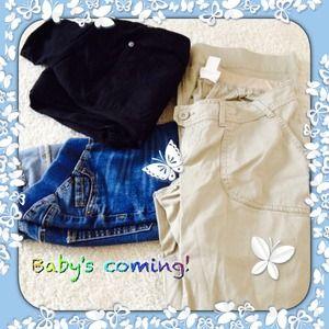 Denim - 3 pair maternity jeans, excellent condition!
