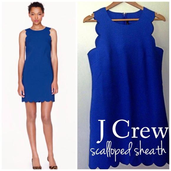 60% off J. Crew Dresses & Skirts - j crew royal blue scalloped ...
